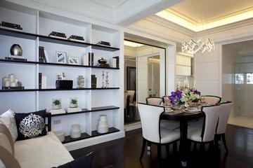 新古典三居室样板房案例欣赏书房书架