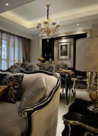 117平新古典三居室欣赏餐厅灯饰