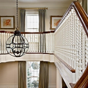 豪华欧式别墅效果图楼梯吊灯