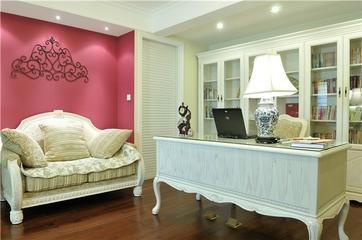 155平简欧复式住宅欣赏书房陈设