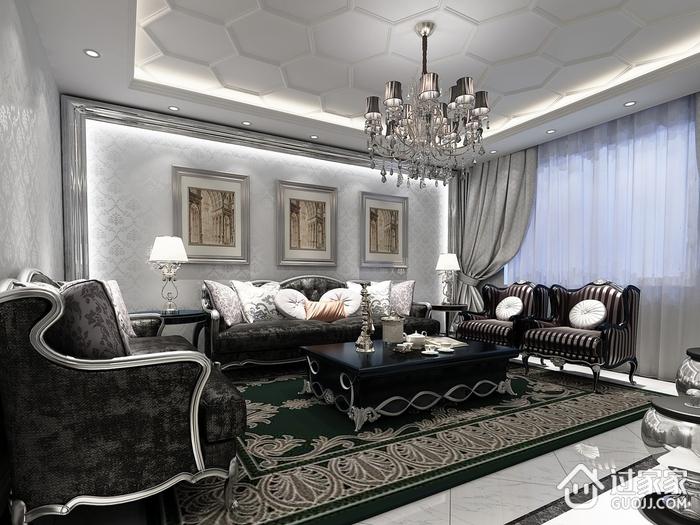 白色简欧风格住宅欣赏