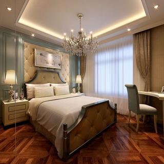 欧式奢华大三居效果欣赏卧室