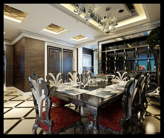 法式风格设计样板房赏析餐厅