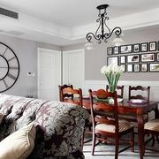 92平三居室美式家居餐厅灯饰