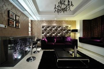 欧式风格设计效果客厅全景