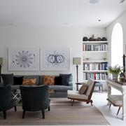 现代白色家居大宅欣赏客厅