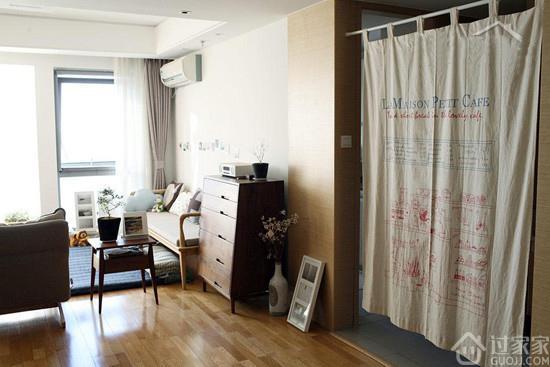 一块不能做什么?小户型家中用一块布空间瞬间开阔