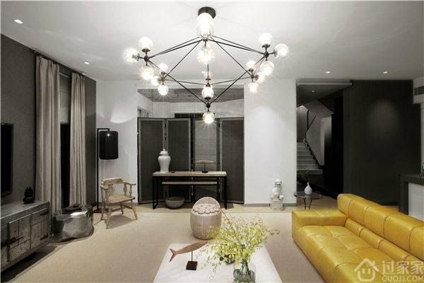 鲜明的色彩,融入温馨的暖色调元素 让现代简约风格餐厅与你更贴近