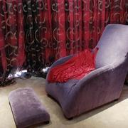 紫色布艺单人沙发效果图
