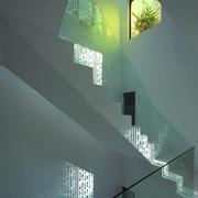 中式风格别墅玻璃楼梯扶手图片欣赏