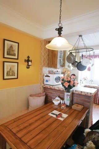 72平美式乡村两居室欣赏餐厅灯饰