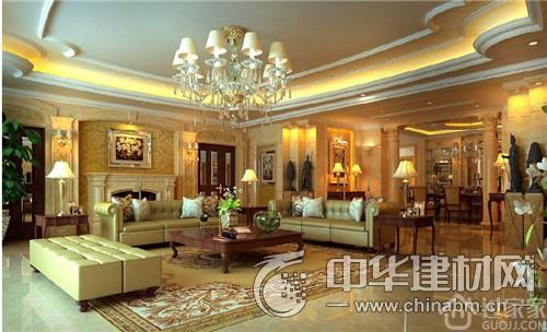 客厅天花吊顶效果图:欧式风格 这类风格在家居中也较为常见,整体看