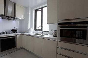 现代经典厨房L性橱柜效果图