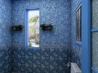 蓝色地中海家居案例欣赏卫生间窗户