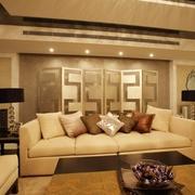 精品简约三居室欣赏客厅吊顶设计