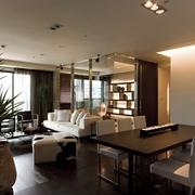 现代效果图设计套图客厅全景