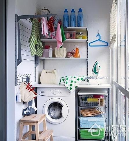 12个阳台改造洗衣房 空间利用有巧思