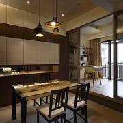 低调奢华 现代餐厅酒柜设计效果图