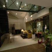 现代风格复式客厅顶面