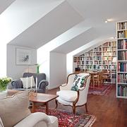 宜家风格装饰住宅效果图客厅全景