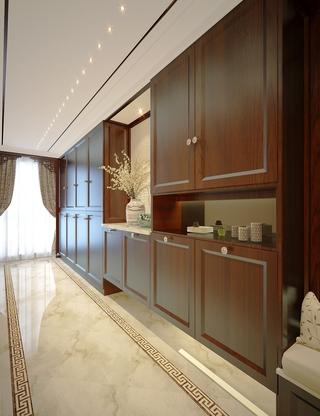 雅致中式风格三居室欣赏玄关鞋柜