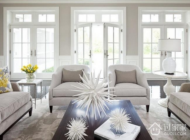 90平小清新欧式欣赏客厅