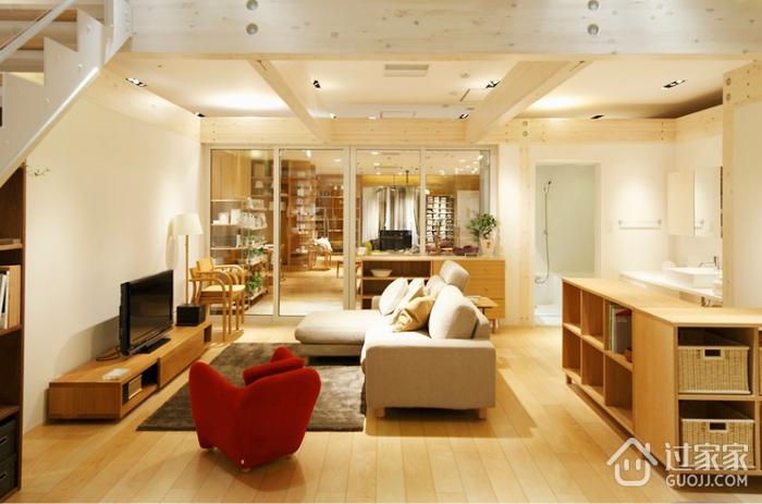 清新MIUI复式楼欣赏客厅设计图