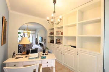 84平混搭风格案例欣赏书房设计