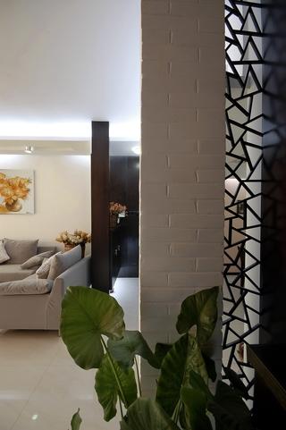 现代简约风格客厅隔断装修效果图