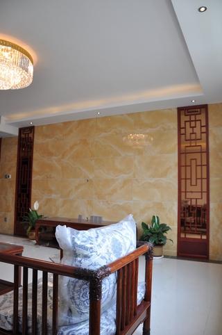 白色新中式风格住宅欣赏客厅陈设
