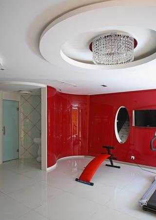现代风格样板间住宅健身房效果