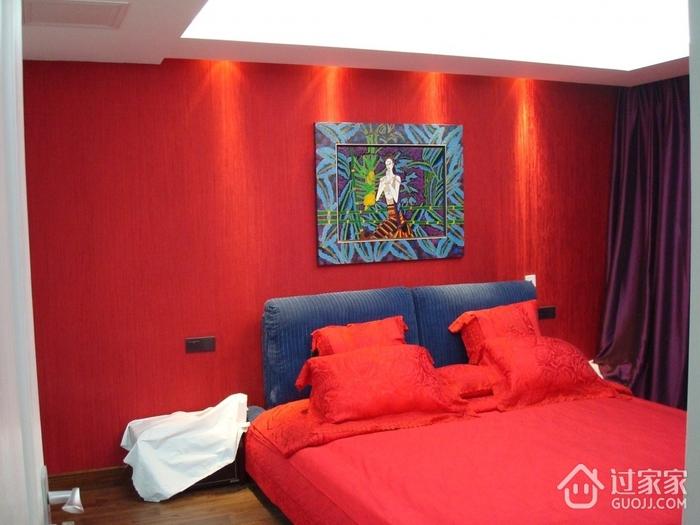 88平简约三室两厅欣赏卧室效果