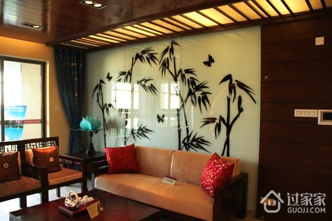 中式稳重深色住宅欣赏