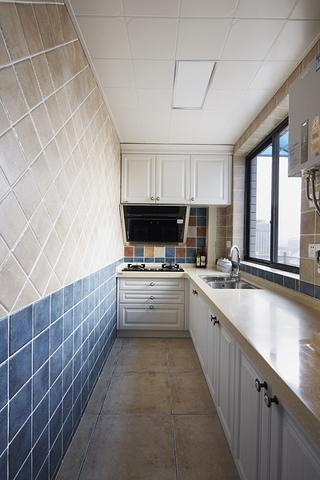 74平蓝色地中海住宅欣赏厨房