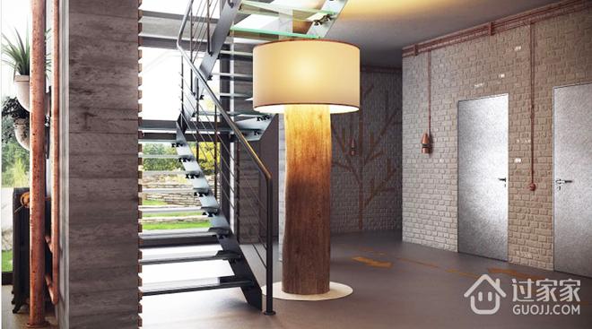 古朴与现代结合的阁楼欣赏楼梯