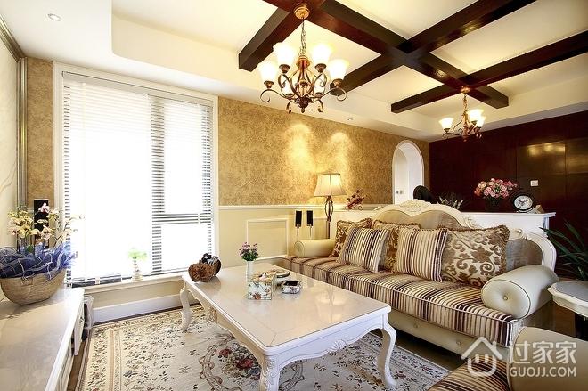100平米三室两厅欣赏客厅效果