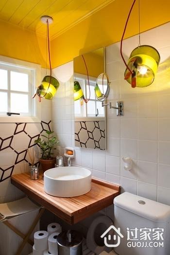 缤纷彩色简约住宅欣赏洗手间