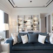 客厅沙发装饰效果图 蓝色浪漫风情