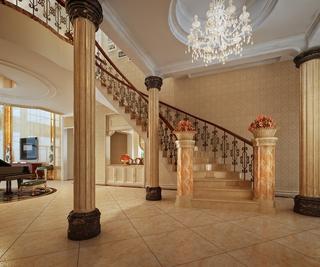 欧式典雅效果图欣赏楼梯间