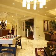 欧式风格复式别墅休闲区