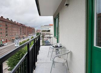 白色北欧住宅欣赏阳台