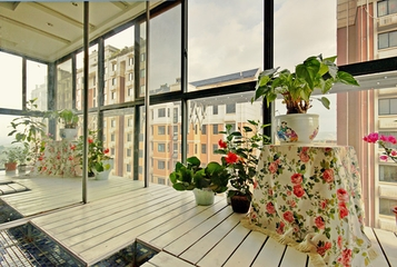 98平现代装修案例欣赏阳台设计