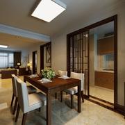 100平新中式三居室欣赏