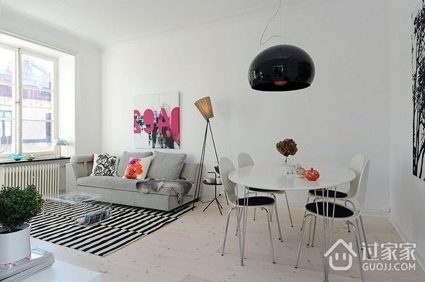 白色北欧两居室住宅欣赏