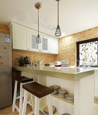 美式风格两居住宅欣赏厨房