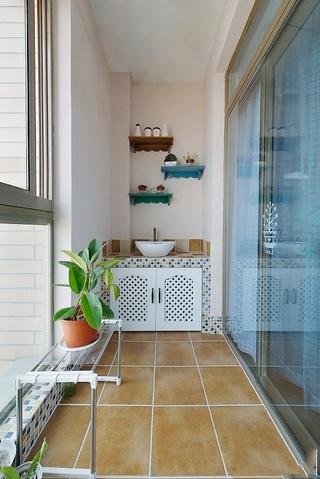 89平低调地中海住宅欣赏阳台