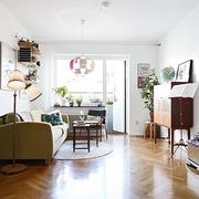 宜家原木二居室欣赏客厅