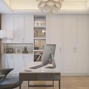 精致现代书房衣柜设计效果图 完美三居室公寓