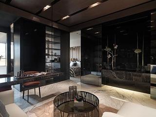 76平现代风两居室欣赏客厅吊顶