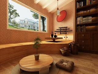 76平简约两室住宅欣赏茶室